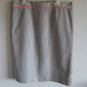 J Crew Seersicker No. 2 Pencil Skirt